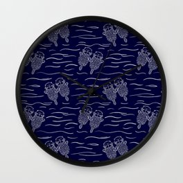 Otterly Devoted Wall Clock