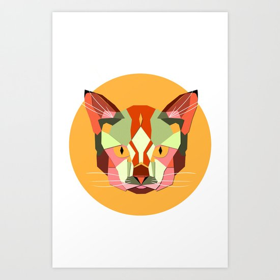 this is a cat. Art Print