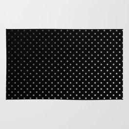 Mini Licorice Black with Faded White Polka Dots Rug