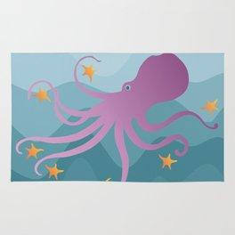 Octopus Juggling Starfish Rug