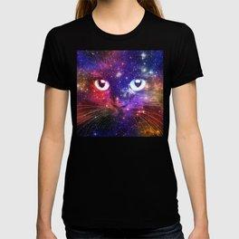 Color Burst Galaxy Cat T-shirt