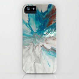 Blown Away - Abstract Acrylic Art by Fluid Nature iPhone Case