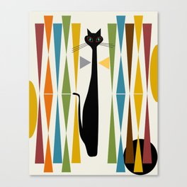 Mid-Century Modern Art Cat 2 Canvas Print