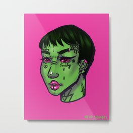 Tattoo girl Metal Print