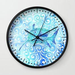Swirly Shark Wall Clock