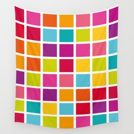 Colorful Square Pattern Wall Tapestry