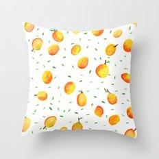Mango Season Throw Pillow