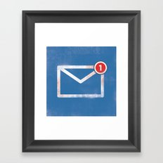 You've got email :) Framed Art Print