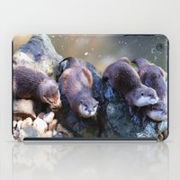 otters iPad Cases featuring Otters by Shalisa Photography