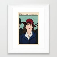 agent carter Framed Art Prints featuring Agent Carter by saintsandstorms