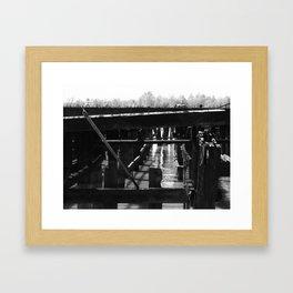 Broken Pier Framed Art Print