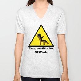 Procrastinator at Work Unisex V-Neck