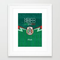 mexico Framed Art Prints featuring Mexico by liamhohoho