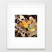 kingdom hearts Framed Art Prints featuring Halloween Kingdom Hearts by kitsune23star