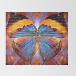 Lapis Lepidoptera Throw Blanket