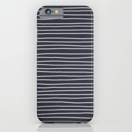 Charcoal Pinstripes iPhone Case