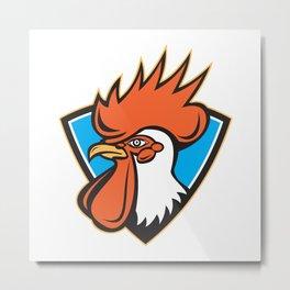 Rooster Cockerel Head Crest Metal Print