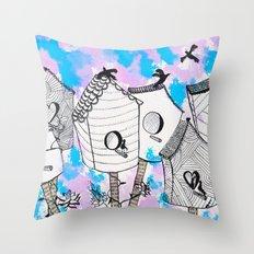 Bird houses  Throw Pillow