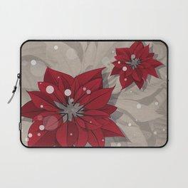 Poinsettias - Christmas flowers   BG Color I Laptop Sleeve