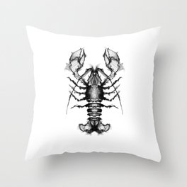 Lobster and Shrimps Throw Pillow