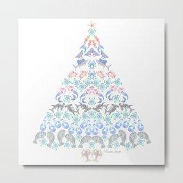 Marine Christmas Tree 3 Metal Print