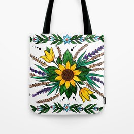 Zalipie Flowers Tote Bag