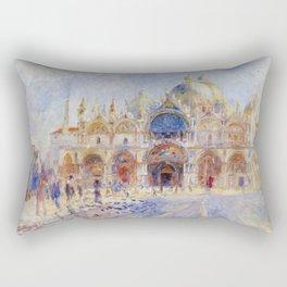 Auguste Renoir - The Piazza San Marco in Venice Rectangular Pillow