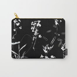 Plants & Paper clips Photogram Carry-All Pouch