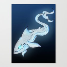Great White Ghost Canvas Print