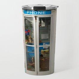 Old Phone booth Holiday Decorations Travel Mug