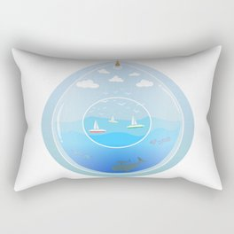 Ocean Terrarium Rectangular Pillow