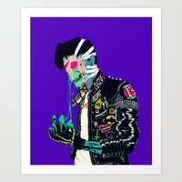 boneface Art Prints featuring Slime by boneface