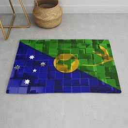 Flag of Christmas Island 3d flag 3d cubes texture Flags of Asian countries 3d art Christmas Island A Rug