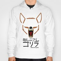 coyote Hoodies featuring Coyote by Millennium Gorilla