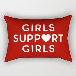 Girls Support Girls Feminist Quote Rectangular Pillow