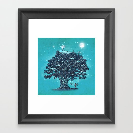 Deep Tree Diving  Framed Art Print