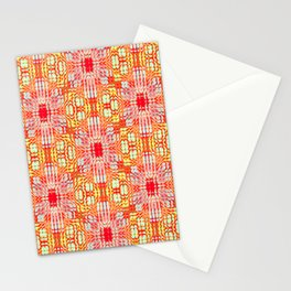 """series """"Stained glass"""" - red and yellow Stationery Cards"""