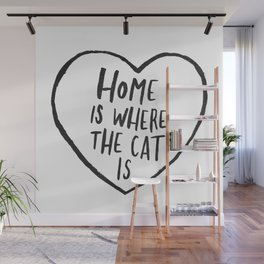 Home Is Where The Cat Is Wall Mural