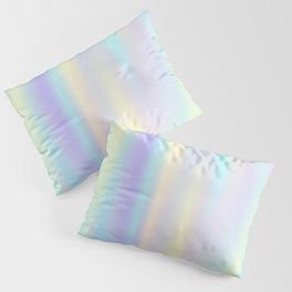 Pastel rainbow abstract Pillow Sham