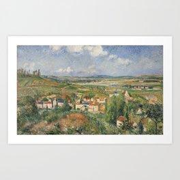 Camille Pissarro 1830 - 1903 HERMITAGE IN SUMMER, PONTOISE Art Print