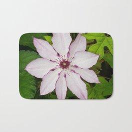 Pale Pink Clematis Bath Mat
