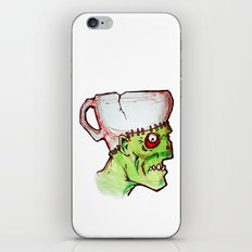 coffee zombie notext iPhone & iPod Skin