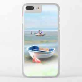 Red Float Clear iPhone Case