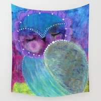 sleeping beauty Wall Tapestries featuring Sleeping Beauty by Julie M Studios