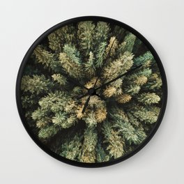 pine tree aerial view Wall Clock