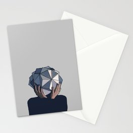 Mujer poliedro Stationery Cards
