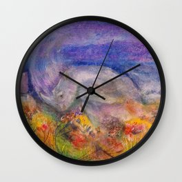 Rhino Wave Wall Clock