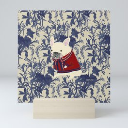 French Bulldog - RED Mini Art Print