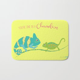 You're One in A Chameleon Bath Mat