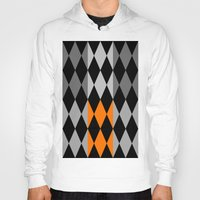 orange pattern Hoodies featuring Pattern orange by LoRo  Art & Pictures
